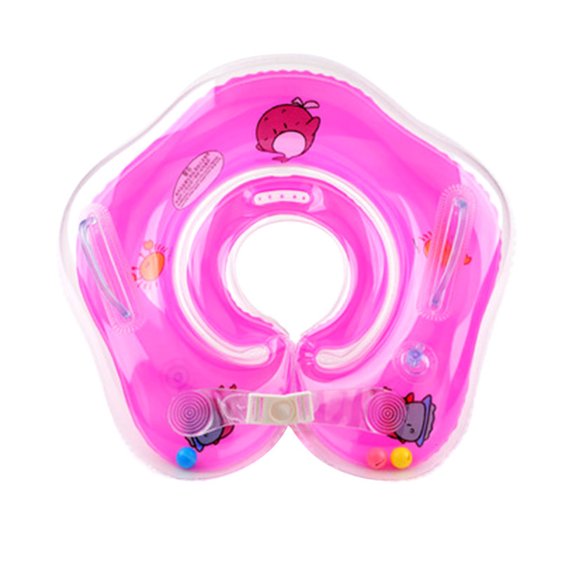 Baby Swimming Rings Double-decked Safety Floating PVC Inflatable Pool Float with Handle C55K Sale