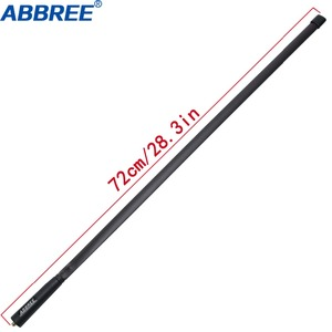 Image 2 - ABBREE 72CM/28.3IN Foldable Army CS Tactical SMA Female VHF UHF Dual Band Antenna For Walkie Talkie Baofeng UV 82 UV 5R BF 888S