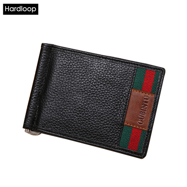Hardloop Money Clip Bank Id Card Cover Clamp Leather Carte Case Wallet for Credit Cards Men Money Clip Travel Purse Coin Secrid
