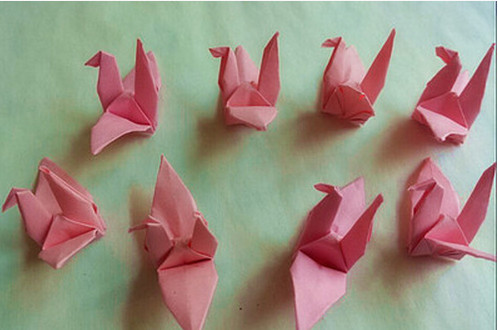 A15 Pure Handmade Paper Birds 75cm Origami Finished Wedding Venue Birthday Gifts Supplies In Party DIY Decorations From Home Garden On