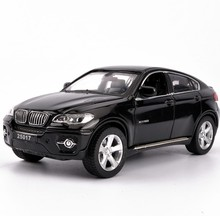 лучшая цена 1:32 X6 SUV Coupe Simulation Toy Vehicles Model Alloy Pull Back Children Toys Genuine License Collection Kids Gift Off-Road Car