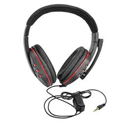 EC2 HIPERDEAL Fashion Bluetooth Headset  New Gaming Headset Voice Control Wired HI-FI Sound Quality For PS4 Black+Red Jul3