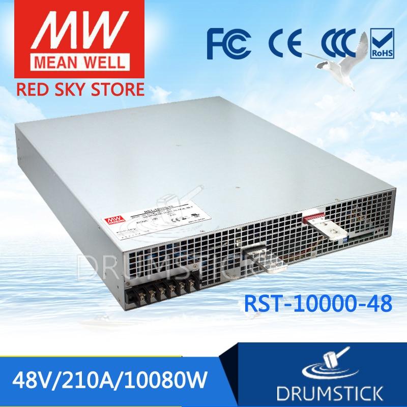 100% Original MEAN WELL RST-10000-48 48V 210A meanwell RST-10000 48V 10080W Single Output Power Supply цены онлайн
