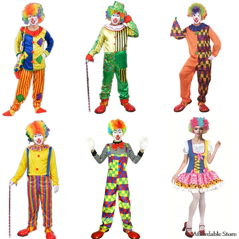 Halloween clown costume costume dance costume stage performance costume adult clown suit circus performance suit