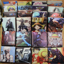 10 card holder wallet with cion pocket one piece luffy anime purse lol game woman man wallet Hokage Ninjia children wallet gift