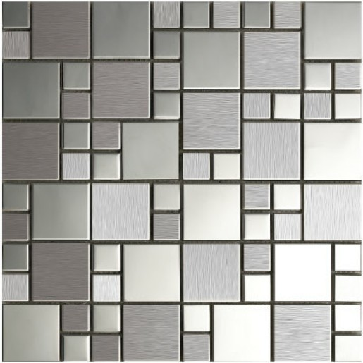 Free Shipping Metal Mosaic Stainless Steel Tile Kitchen Bathroom Bedroom  Wall Panel Metallic Mosaic Tiles New