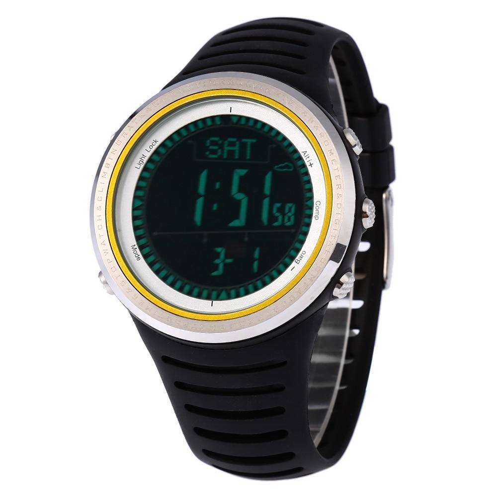 SUNROAD FR802B Men Digital Sports Watch 5ATM Altimeter Barometer Alarm Weather Forecast Wristwatch цена