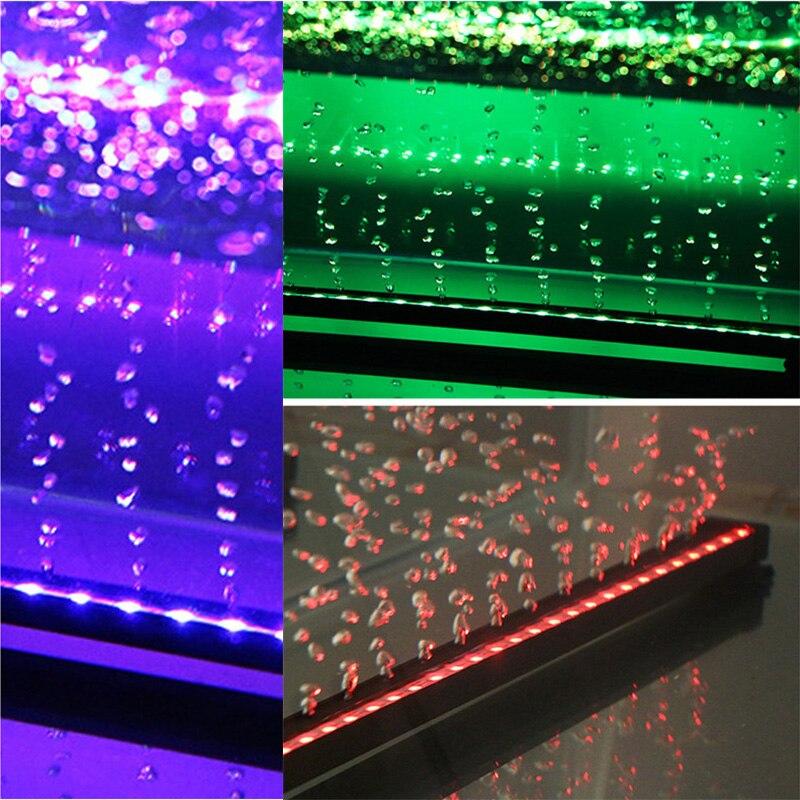 5050 RGB burbuja de aire lámpara LED acuario luz UE plug 16 cm 31 cm 46 cm sumergible Luz toma de oxígeno para los peces