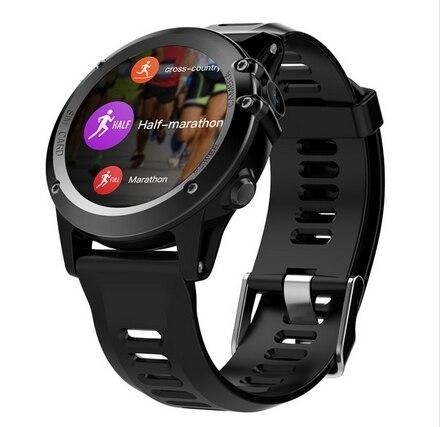 H1 3G Smartwatch téléphone 1.39 pouces Android 4.4 MTK6572 double cœur 1.2 GHz 4 GB ROM IP68 étanche 5.0MP caméra podomètre pk H2 KW88