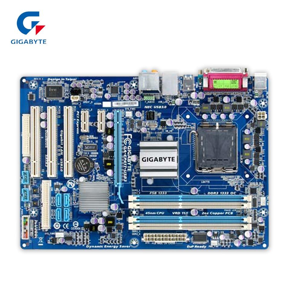 Gigabyte GA-EP41T-USB3 Original Used Desktop Motherboard EP41T-USB3 G41 LGA 775 DDR3 4G SATA2 USB2.0 ATX gigabyte ga x99 ud4 original used desktop motherboard x99 ud4 x99 lga 2011 v3 ddr4 64g sata 3 usb3 0 atx on sale