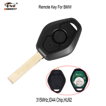 DANDKEY 10pcs/lot 3 Button Remote Car Key For BMW E38 E39 E46 EWS System 315MHZ With PCF7935AA ID44 Chip HU92 Uncut Blade