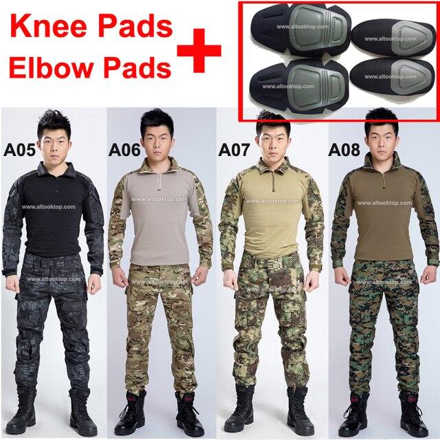 2f45ce9e21 Uniforme militar do exército dos eua de combate multicam camo alemão shirt  + calças táticas com