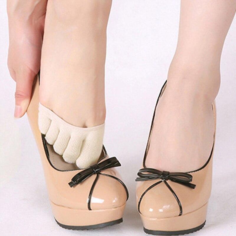 1 par de herramientas antideslizantes para el cuidado de los pies de alta calidad medio plantillas almohadillas Metatarsal Sore calcetines de apoyo para el dedo del pie para tacones