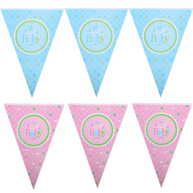 welcome baby boy pulling flag banners welcome baby girl hanging