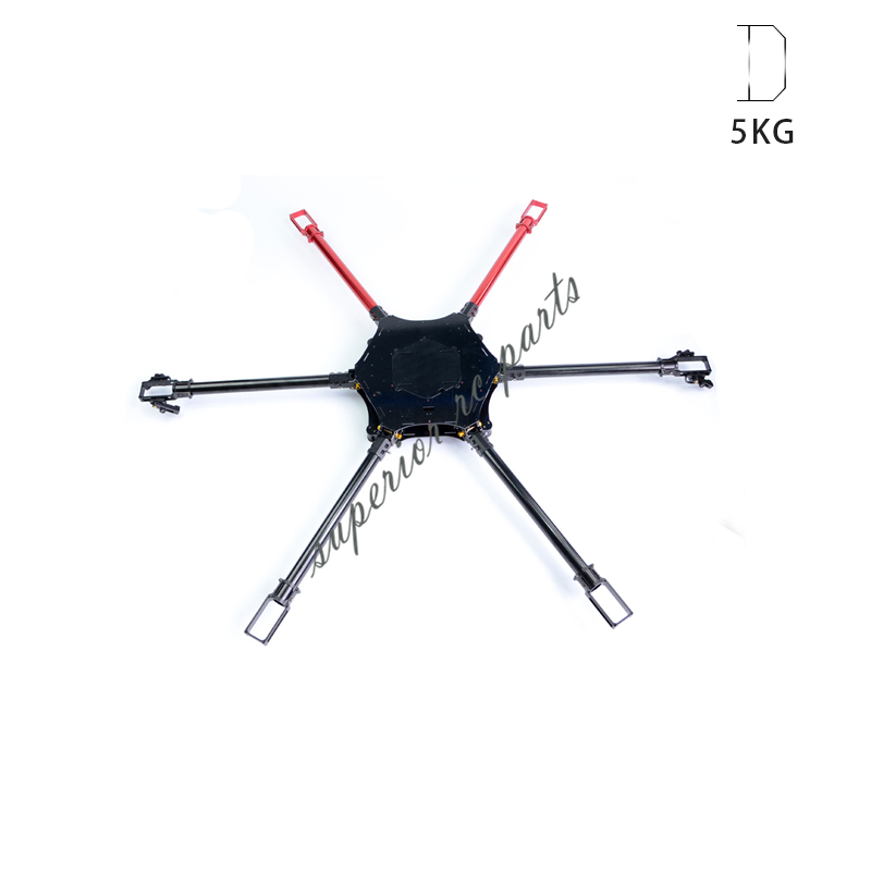 6-Axis Folding FPV Multicopter Hexacopter Agricultural Plant Protection UAV 5kg with Spray Boom fpv x uav talon uav 1720mm fpv plane gray white version flying glider epo modle rc model airplane