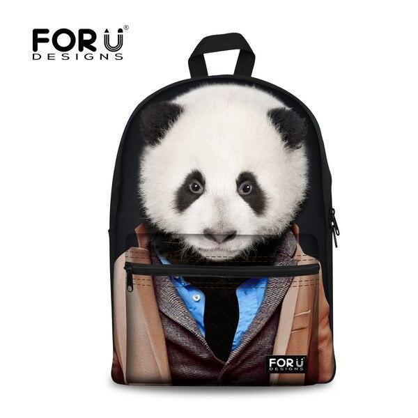 Cute Animal Backpack Children Schoolbags for Girls 3D Panda Bear Printing Backpack Women Travel Backbag Mochila