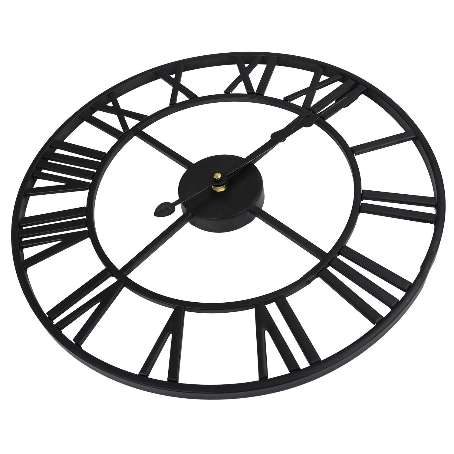 7f018e0fd39e HOT LARGE OUTDOOR GARDEN WALL CLOCK BIG ROMAN NUMERALS GIANT OPEN FACE  METAL-in Wall Clocks from Home   Garden on Aliexpress.com