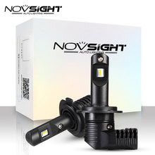 NOVSIGHT 1:1 DESIGN H7 Led H4 Car Headlight Bulbs H11 H16JP 9005 9006 9012 P13 PSX24W PSX26W 50W 10000LM 6500K Auto Headlamp(China)