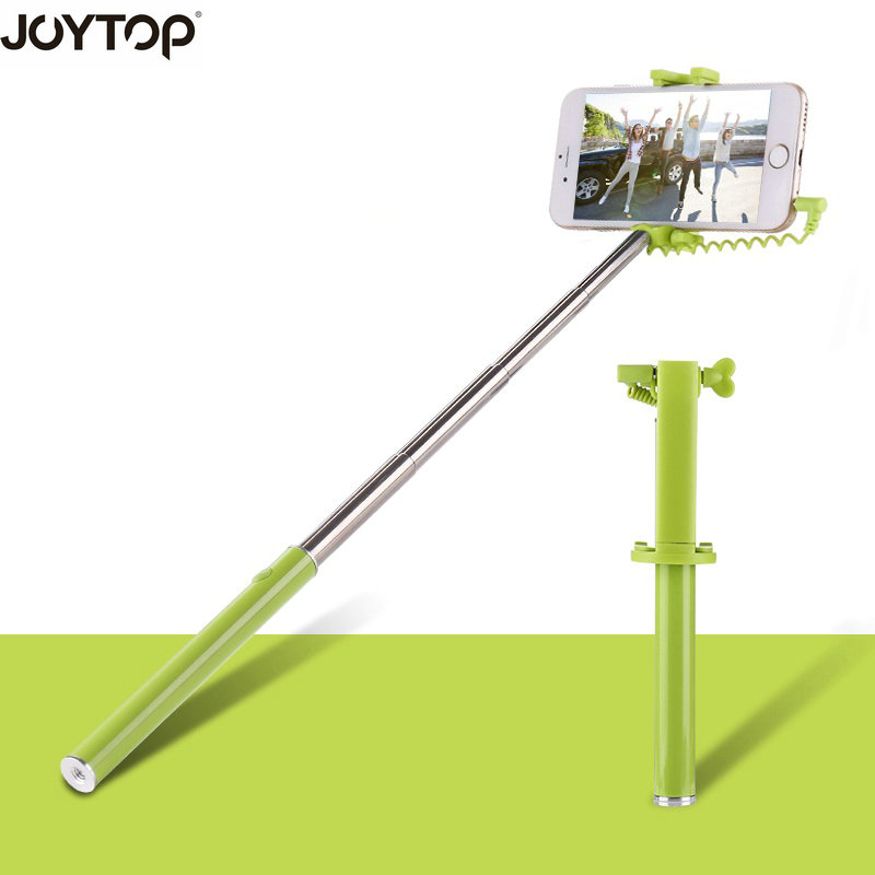 JOYTOP Mini Selfie Stick Monopod Wired Selfie Stick For iPhone 6 5 Android Samsung Huawei Xiaomi Handle Monopod Universal Sticks retractable selfie monopod w holders for samsung htc iphone more green