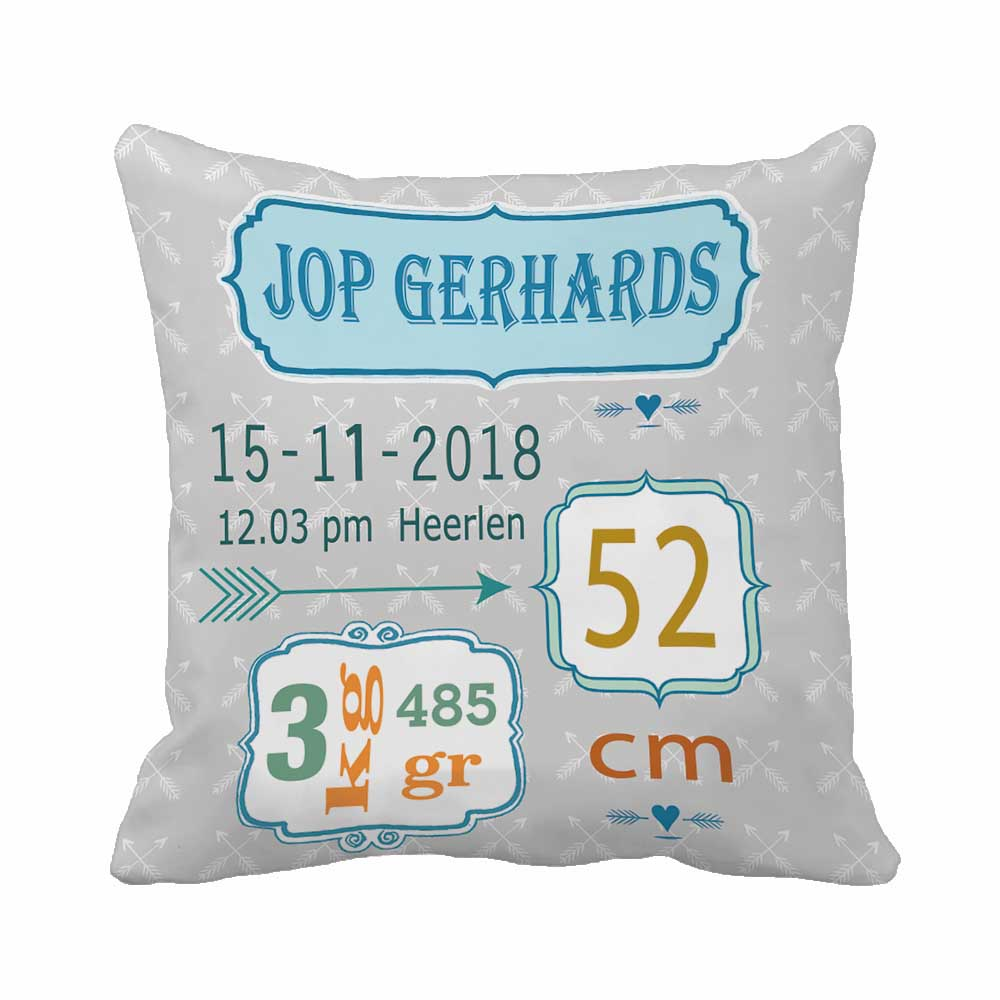 Stat Arrow Pattern Pillow Decorative