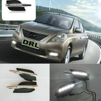 2PCs/set car styling AUTO LED DRL Daylight Car Daytime Running lversa 2012ight For Nissan  2013 2014
