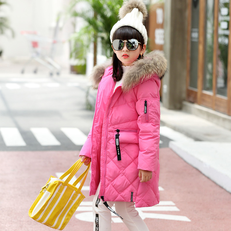 2017 Girl Children Down Winter Jacket For Girls Winter Coat Parkas Outerwear Jacket Children Jackets Kids Winter Coat Parka 2017 kids jacket winter for girl and coats duck down girls fluffy fur hooded jackets waterproof outwear parkas coat windproof
