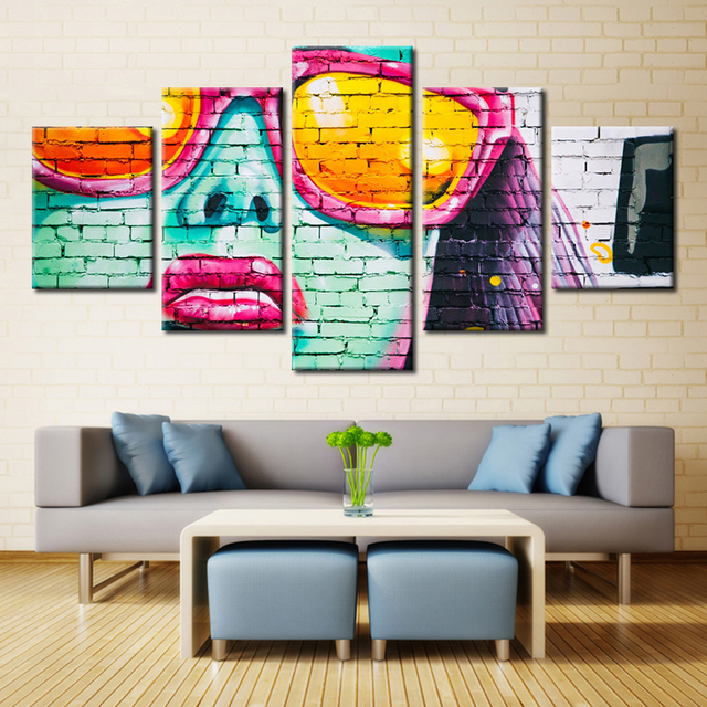 Cool modular picture abstract artwork canvas painting fashion poster for home decor wall art wholesale fashion