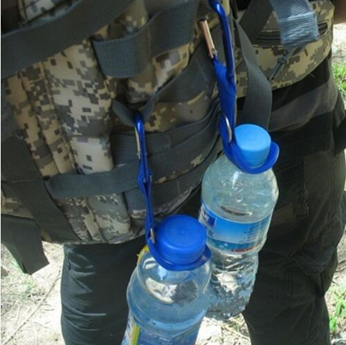 1pc Free Shipping  Camping Carabiner Water Bottle Buckle Hook Holder Clip For Camping Hiking Survival Traveling Tools