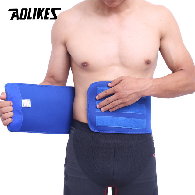 AOLIKES 1PCS Waist Support For Belts Belt Lumbar Brace Breathable Back Therapy Absorb Sweat Fitness Sport Protective Gear 4