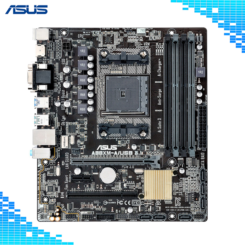 Asus A88XM-A/USB3.1 Desktops Game Motherboard FM2+ Support 7650K стоимость