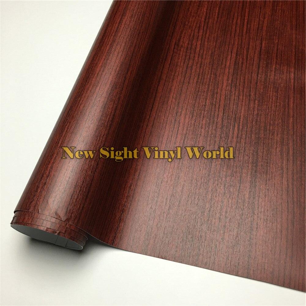 Teck en bois Texture Wrap voiture bois vinyle plancher meubles Auto Interier taille: 1.24X50 m/rouleau (4ft X 165ft)