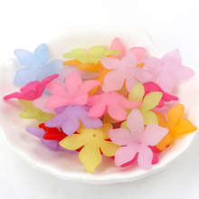 20pcs Mixed Flower Caps Frosted Acrylic Spacer Beads For Jew