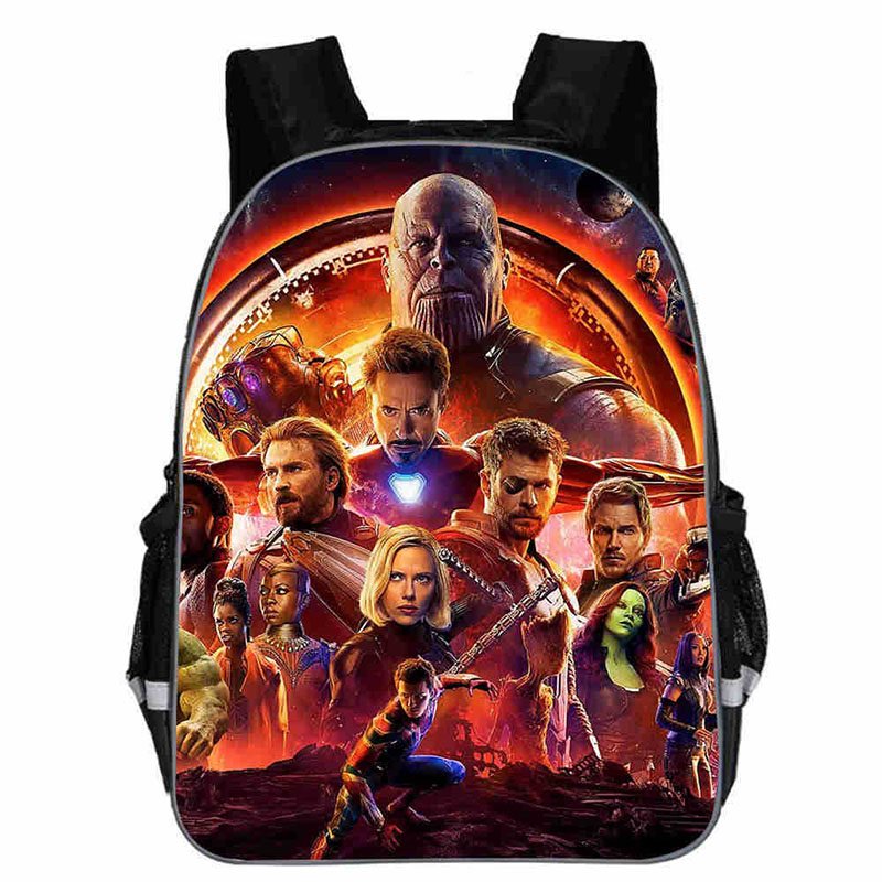 16-inch Mochila Kids Backpack The Avengers Hulk Captain America War Cartoon Children School Bags Boys Teenage Girls Backpacks famous brand school backpack the avengers captain america iron man fashionable laptop backpacks high quality leather