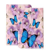 For Samsung T560 Fashion 3D Painted Pu Leather Stand Holder Cover Case For Samsung Galaxy Tab