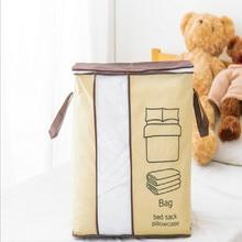 Household Non-woven Portable Clothes Storage Bag Organizer 45*51*29cm Folding Closet For Pillow Quilt Blanket Bedding