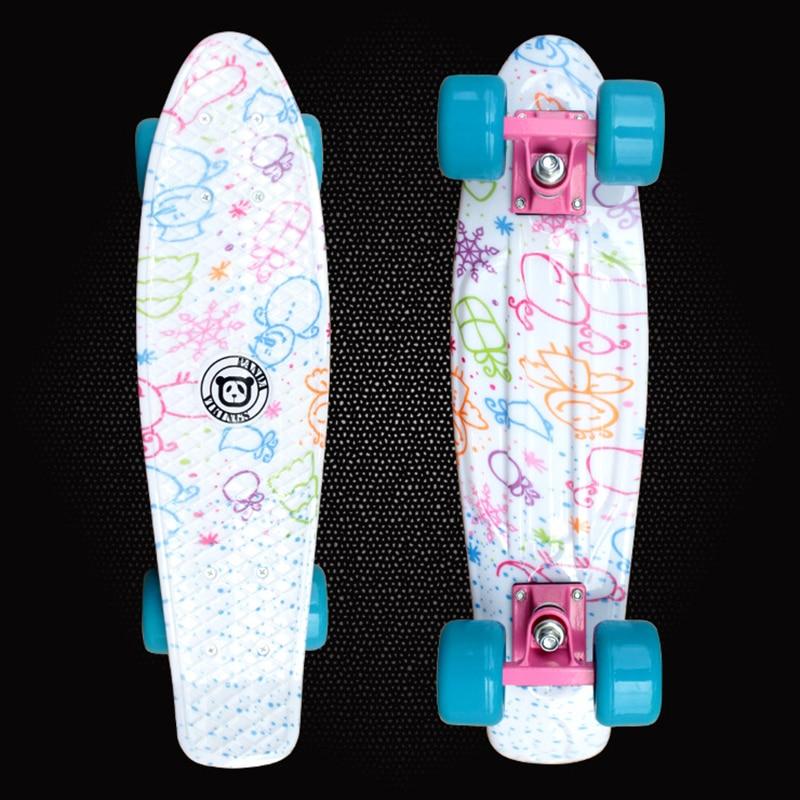 2018 Детский самокат мини Cruiser Peny доска, скейтборды Отпечатано 22 inch Скейтборд Полный Longboard палубе скейтборд PD06