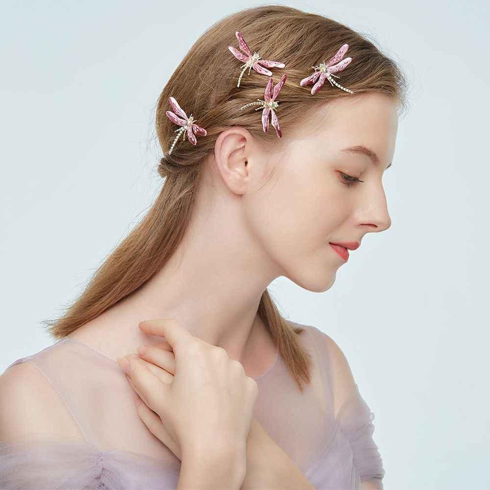 אופנה חדשה ורוד שפירית סיכות סיכות ראש סיכות שיער כלה כובעי חתונה כיסוי ראש שיער אביזרי מכירה לוהטת מתנות
