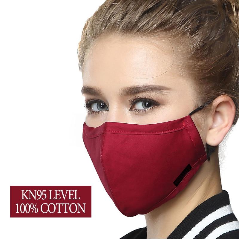 Reusable PM2.5 Anti Haze Mouth Mask Men Women Windproof Anti Dust Adjustable Washable Activated Carbon Pure Cotton Mouth Mask