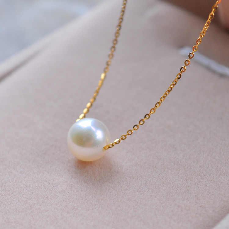 חדש פשוט אופנה למעלה איכות פרל תכשיטי קולר שרשרת זהב שרשרת הצהרת שרשרת & תליוני מתנות לנשים
