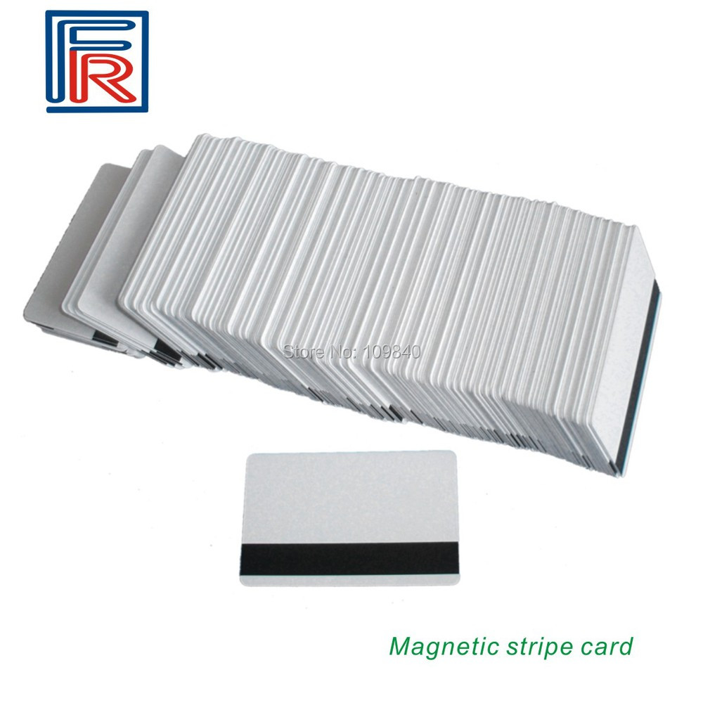 Free shipping 2016 3Track Hi-Co Blank PVC Magnetic Stripe Card with CR80 ISO standard size printable  200pcs/lot 20pcs lot contact sle4428 chip gold card with magnetic stripe pvc blank smart card purchase card 1k memory free shipping