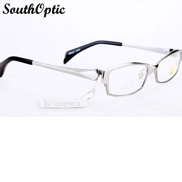 Titanio puro hombres montura completa marco gafas de titanio Unisex hombres mujeres marcos de las lentes gafas de titanio gafas de montura negra 9213