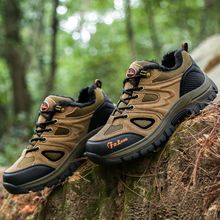 цены Men hiking Boots Women Winter Trekking Timber Land Shoe Mountain Shoes zapatos impermiable Non Slip Camping Sport Sneakers Brown