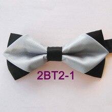 YIBEI Coachella Ties Silver Bow Ties Solid Color Plaid Bowtie Diamond With  Black Bottom Novelty Butterflies ce4e1c1195de