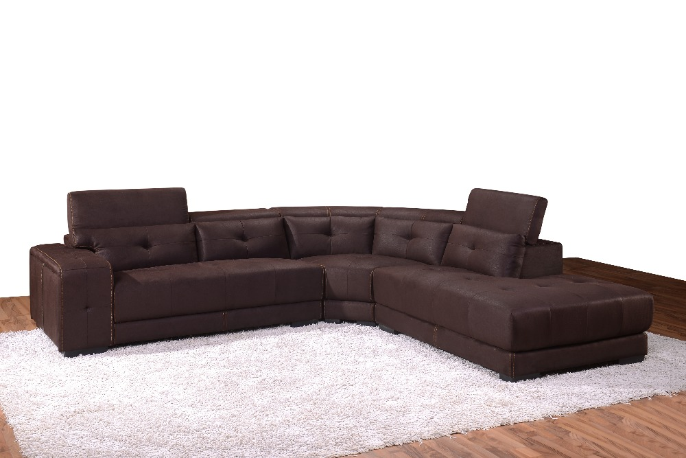 Popular Modern living room furniture sectional sofas in high quality fabric  1517