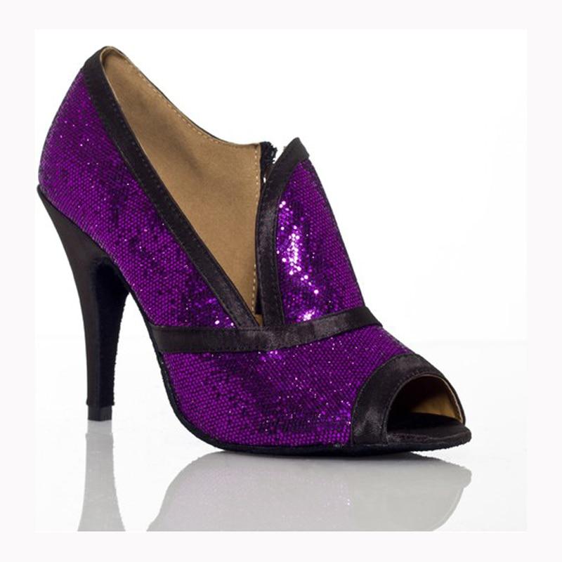 Women Ballroom Latin Dance Shoes High-heeled 8.3/10cm Salsa Party Shoes Female Modern Tango Samba Dance Shoes Soft Sole 1861