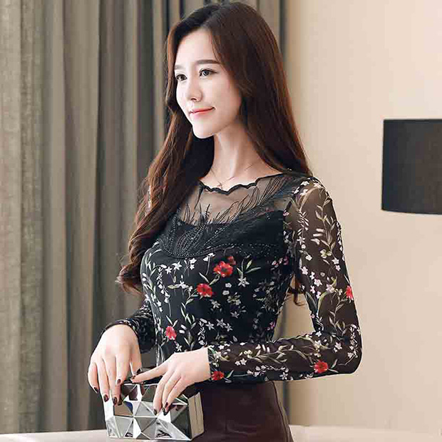 RUIVE Women/'s Long Sweatshirt Dress Solid Ruched Slash Collar Loose Pullover Ladies Patchwork Lace Tops Blouse