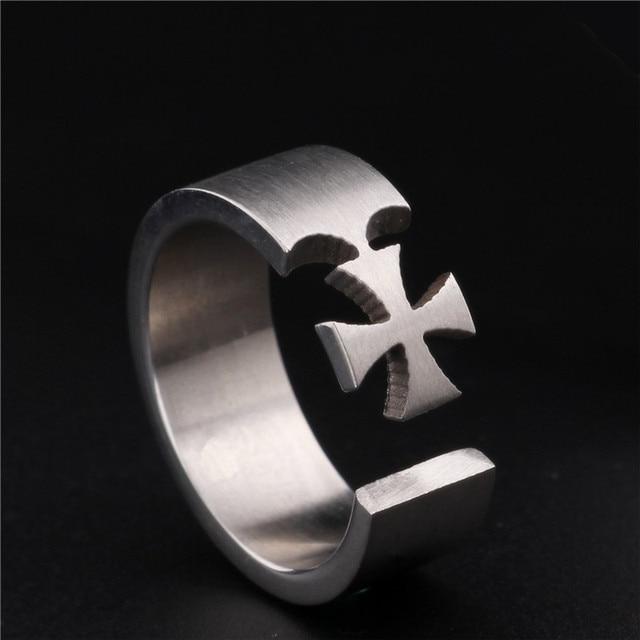Cross Titanium Steel Rings2