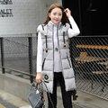 Зима Теплая Куртка Женщины Тонкий Хлопка С Длинным Капюшоном Жилет Дамы Твердые Пиджаки