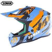 Hot Professional ECE Motocross Off Road Helmet MX Dirt Bike Helmets Motorcycle Cross Country Capacetes Moto Casco SOMAN SM633