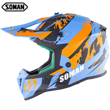 Hot Professional ECE Motocross Off Road Helmet MX Dirt Bike Helmets Motorcycle Cross Country Capacetes Moto Casco SOMAN SM633 стоимость